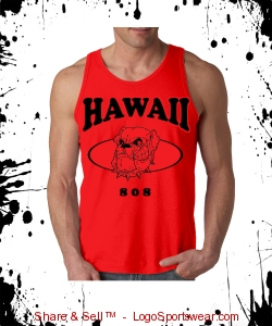 HAWAII 808 MUSCLE TANK TOP (RED) Design Zoom