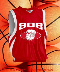 808 DAWGZ REVERSIBLE BASKETBALL JERZEY (RED) Design Zoom