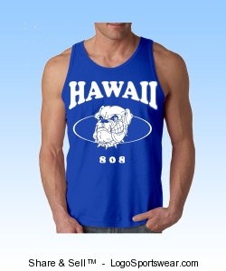 HAWAII 808 MUSCLE TANK TOP (BLUE) Design Zoom