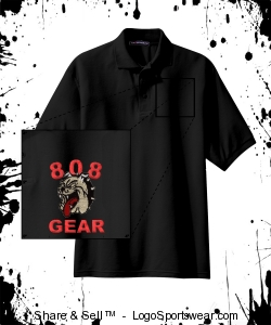 "808 GEAR ""POLO"" (EMBROIDERED) BLACK Design Zoom"