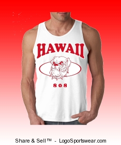 HAWAII 808 MUSCLE TANK TOP (WHITE) Design Zoom